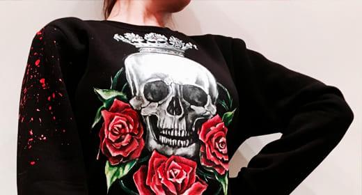 Черепа и скелеты — готический атрибут одежды